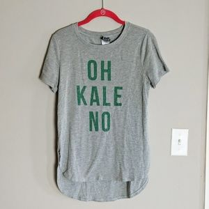 Modern Luxe Oh Kale No Graphic Hi Lo Tee Medium